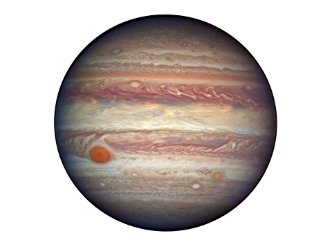 Transparent saturn jupiter planet. Overview planets solar system