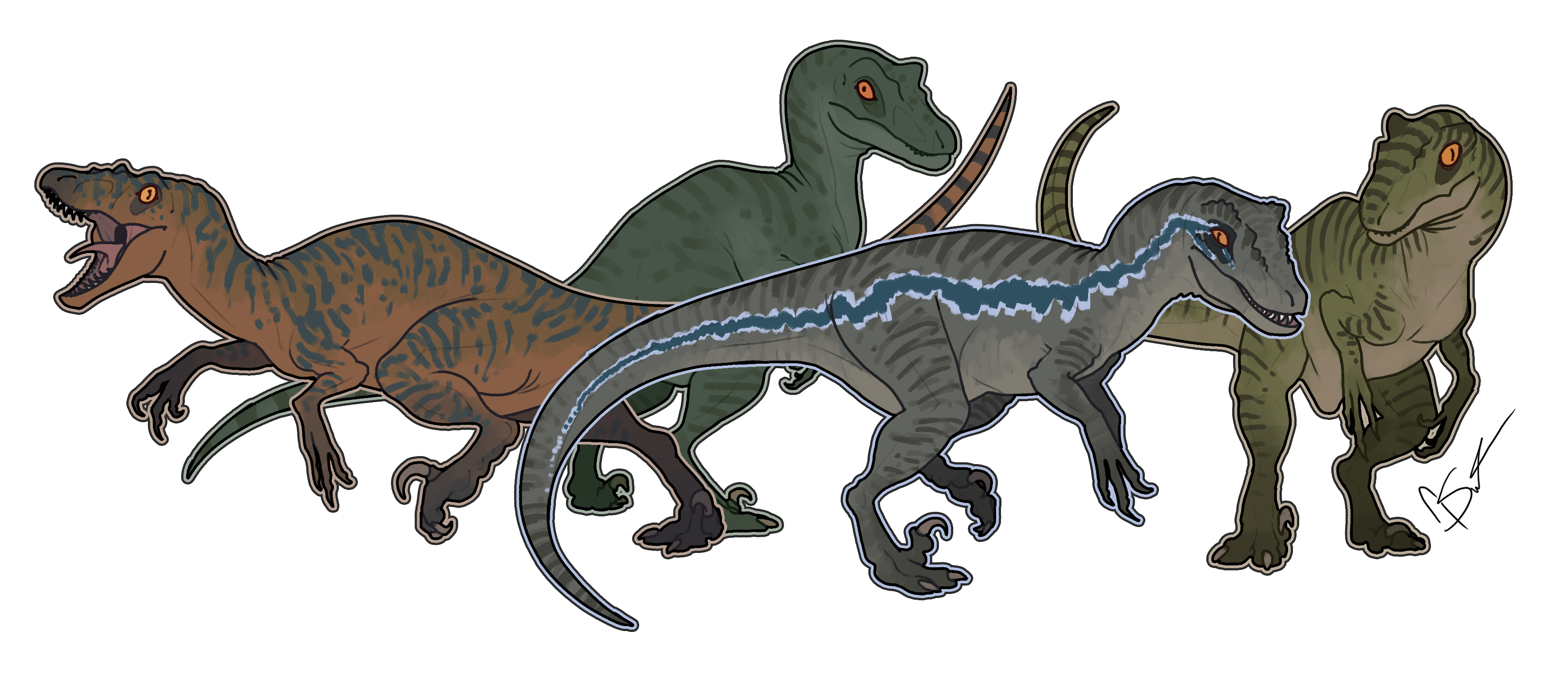 Jurassic park raptor png. I drew the world