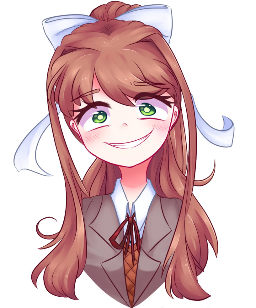 Monika face png. Just by littlecloudie on