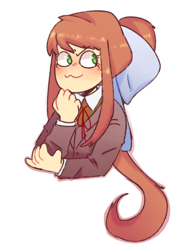 Just monika png. By radi kool ddlc