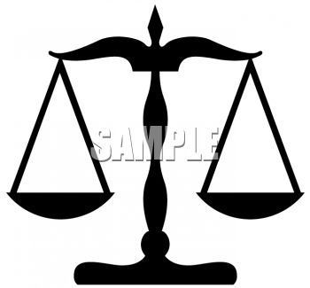 Justice clipart. Scales of clip art picture transparent stock