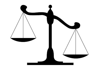 Justice clipart. Legal scales of