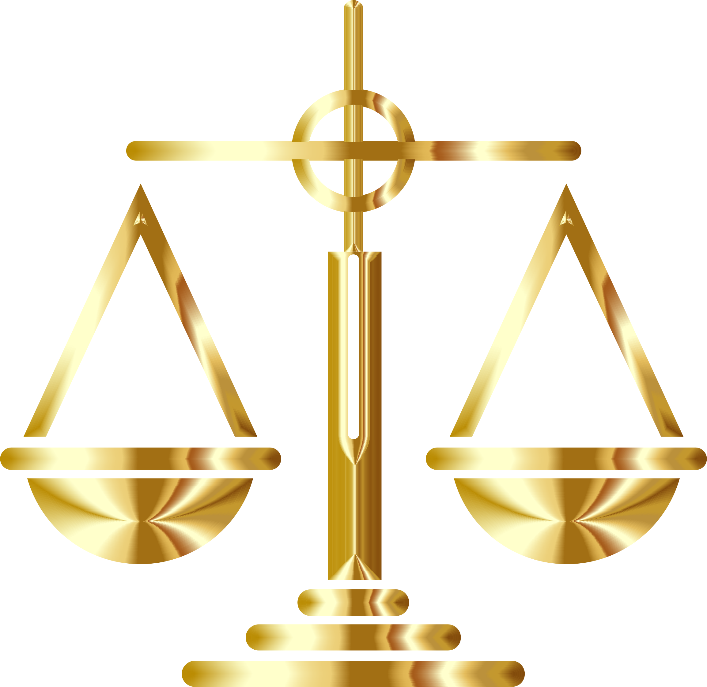 Transparent scales gold. Of justice icon icons