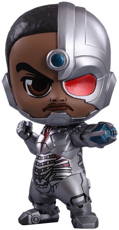 Justice league cyborg cannon png. Cosbaby hot toys bobble