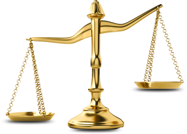 Transparent scales gold. Partners balance weight justice