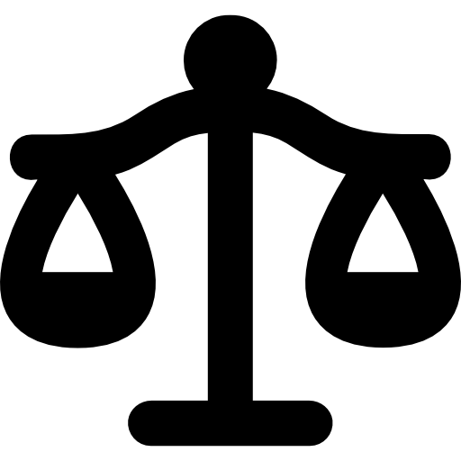 Libra vector lawyer. Justice balanced scale symbol