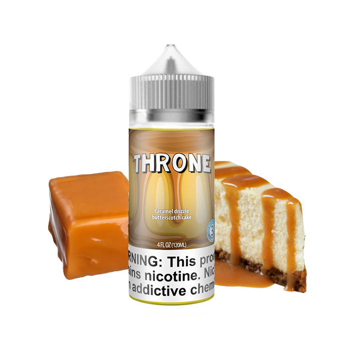 Juul transparent carving. Throne caramel butterscotch cake