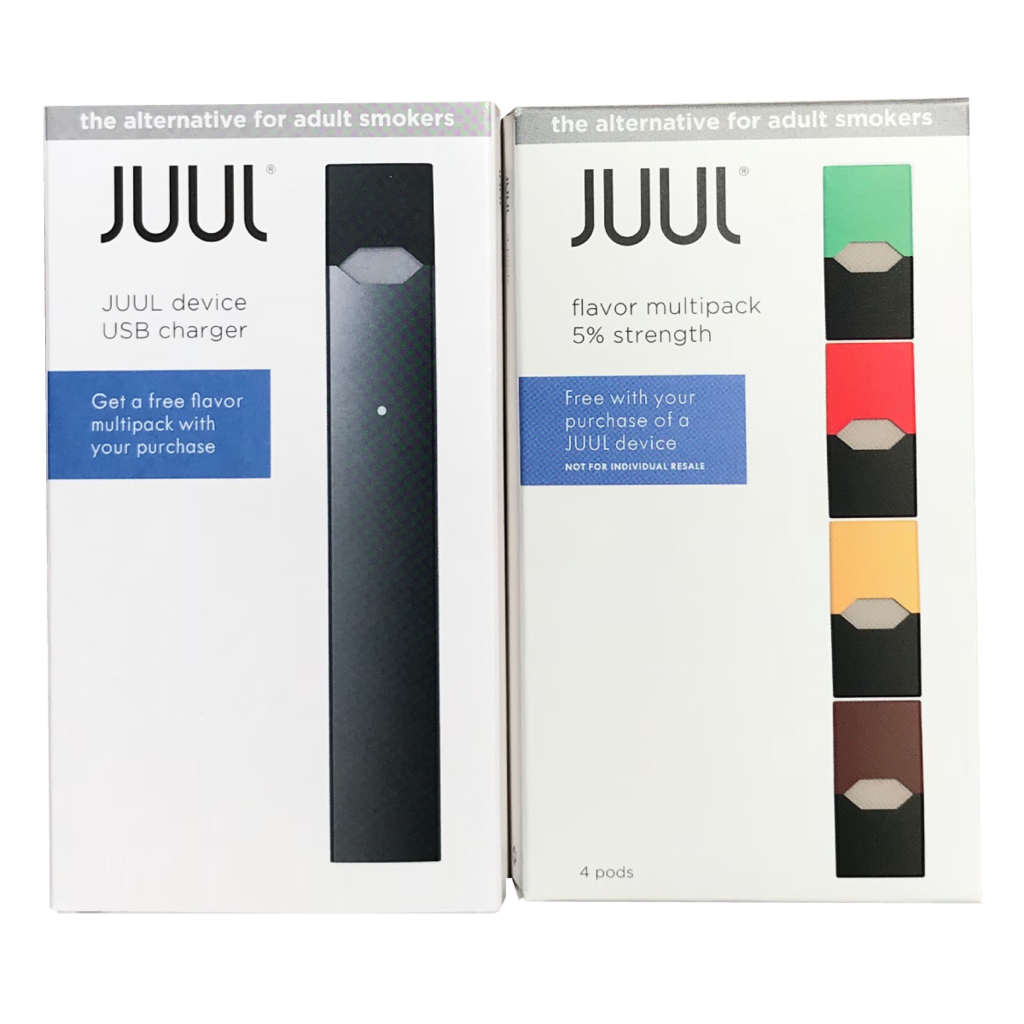 Juul transparent design. Bogo kit etx vape