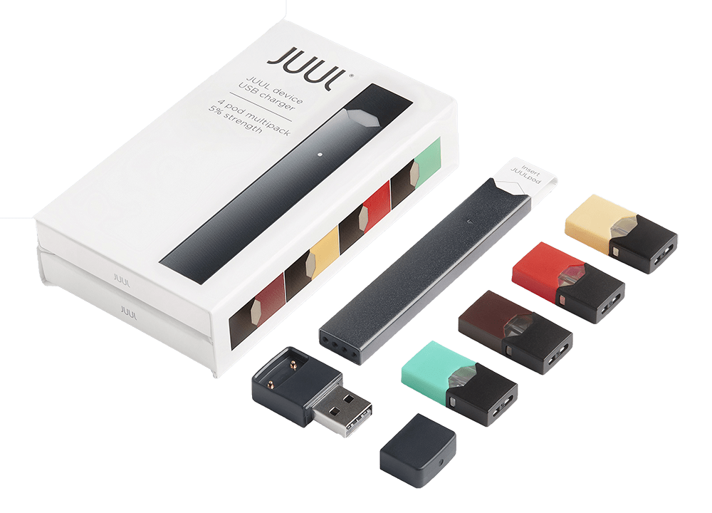 Juul transparent device. Pod system starter kits