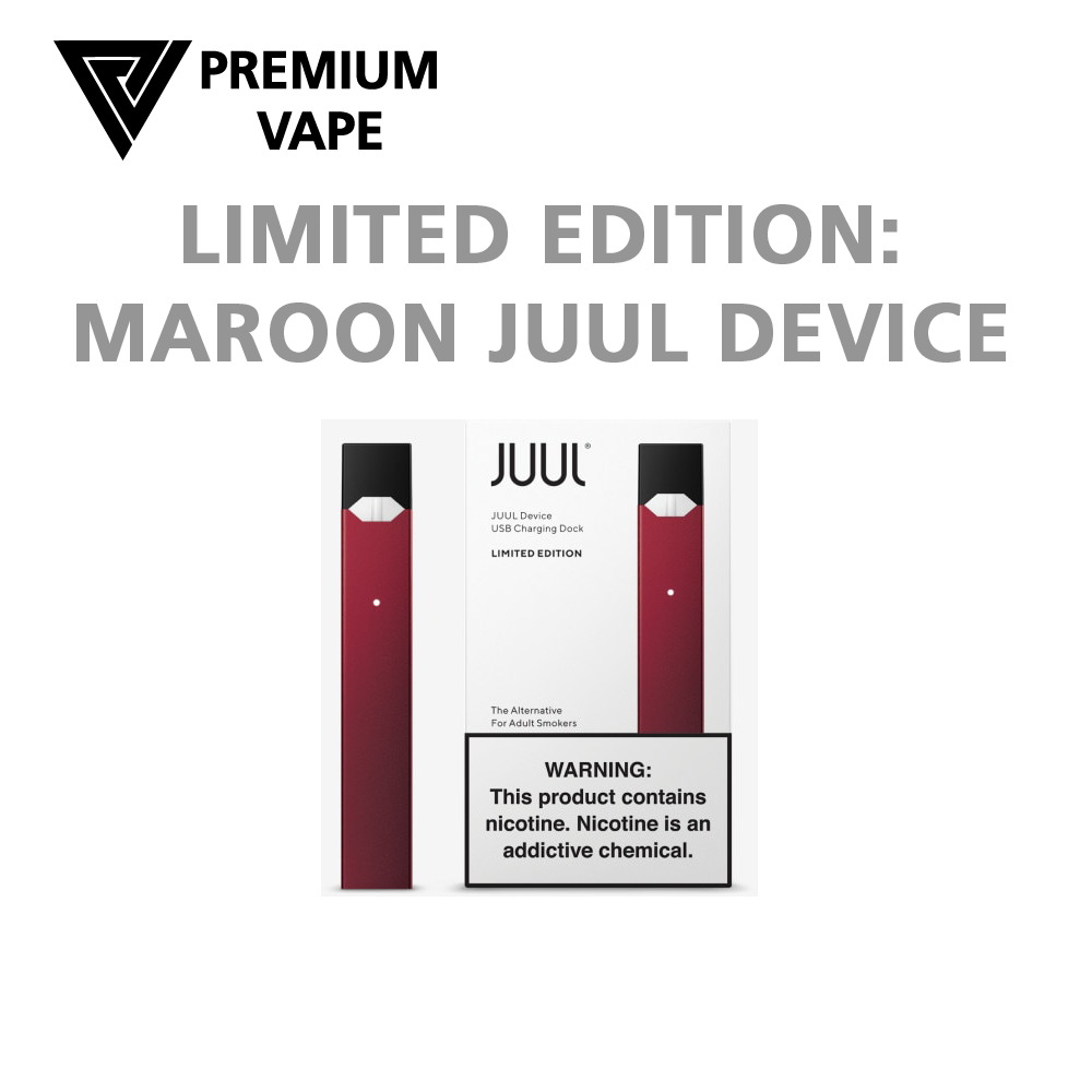 Juul transparent limited edition blue. Vape device kit premium