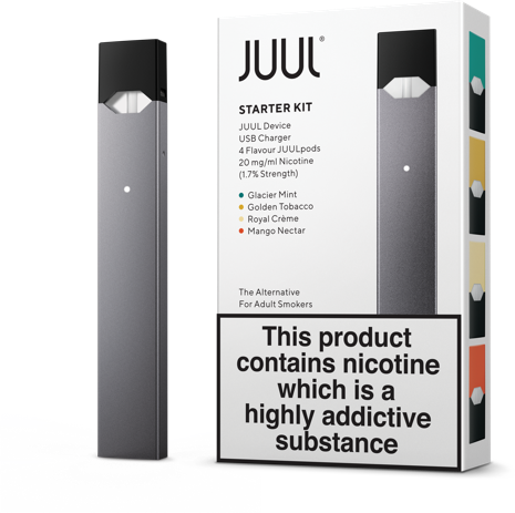 Juul transparent usb. Following government ban switches