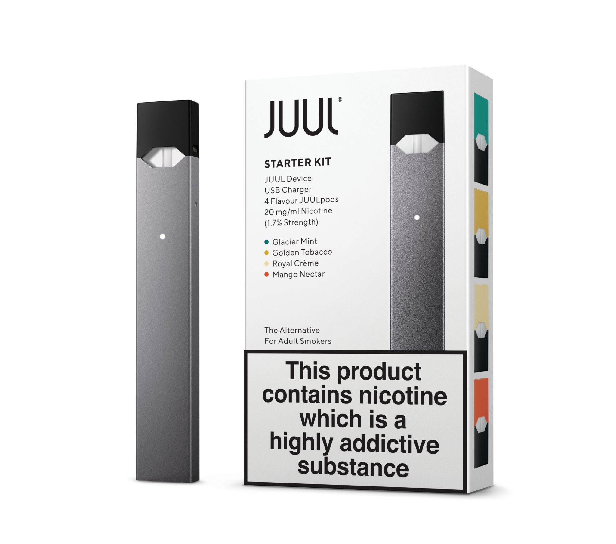 Juul transparent royal blue. Tagged the great british