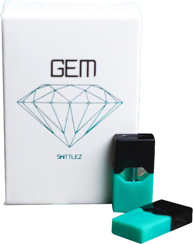 Juul transparent triangle. Wholesale gem cbd pods