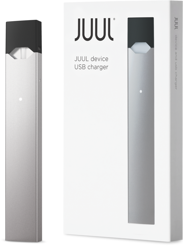 Juul transparent usb. Limited edition silver basic