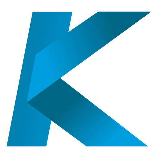 Transparent k vector png. Letter origami isotype svg