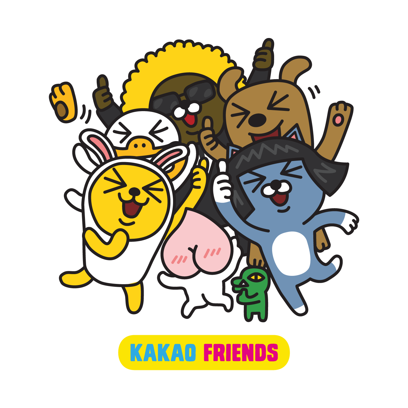 Kakao friends png. Happy kakaotalk with just