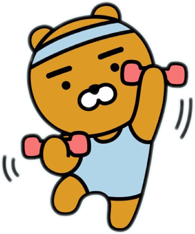 Kakao friends png. Working out