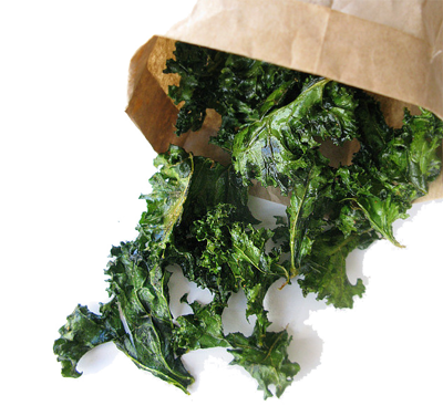 Kale transparent bunch. Chips supercharged food