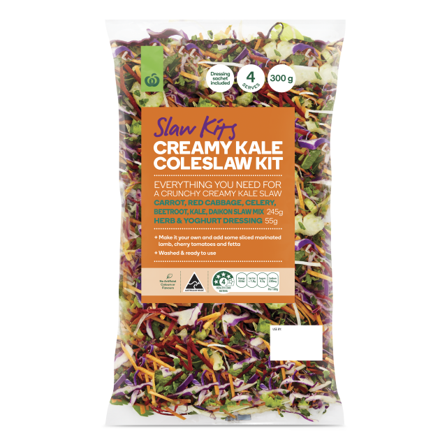 Kale transparent bunch. Woolworths creamy coleslaw kit