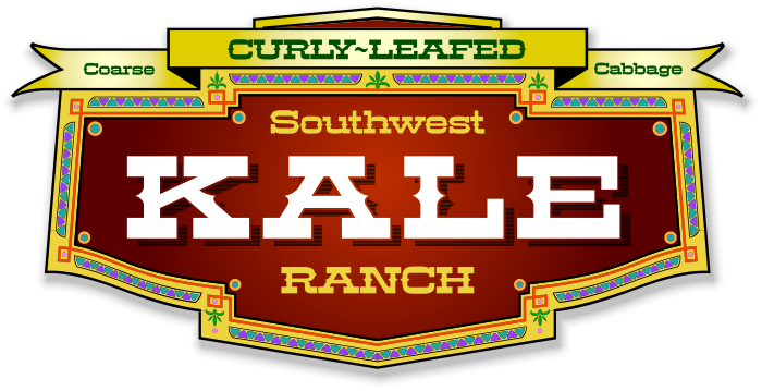 Kale vector greens. Southwest ranch panel example