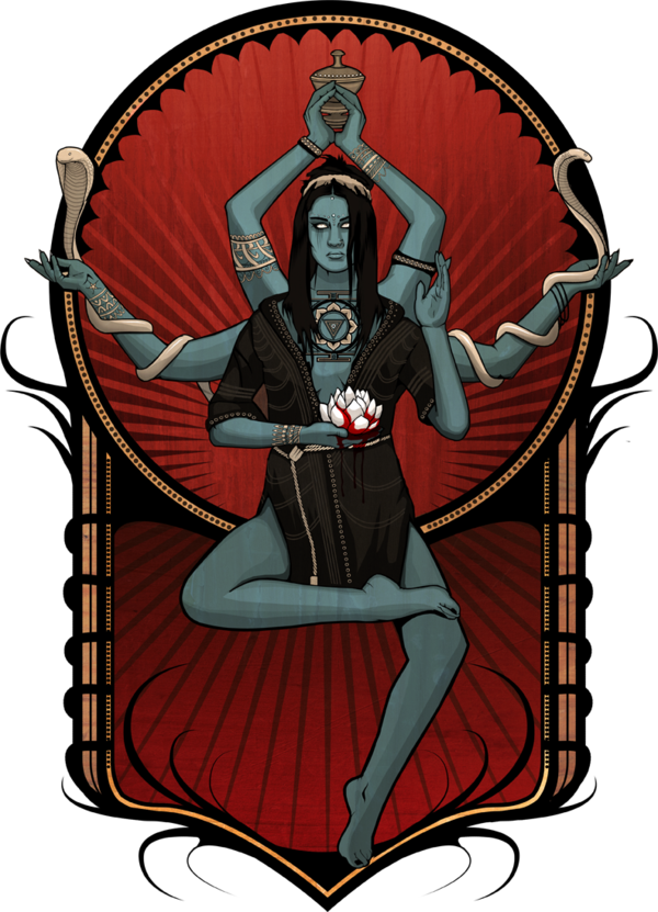 Kali drawing poster. Personal illustration depicting the