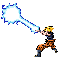 Kamehameha transparent goku. By kakarotcakes on deviantart