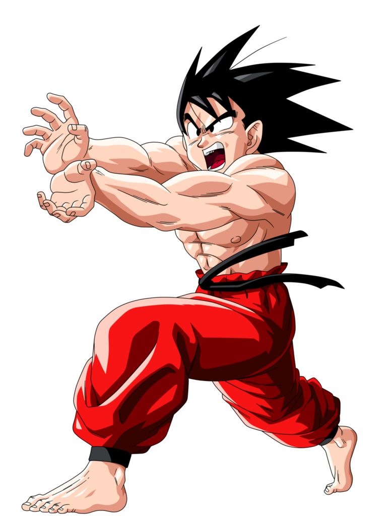 Kamehameha transparent red. Teen goku super by