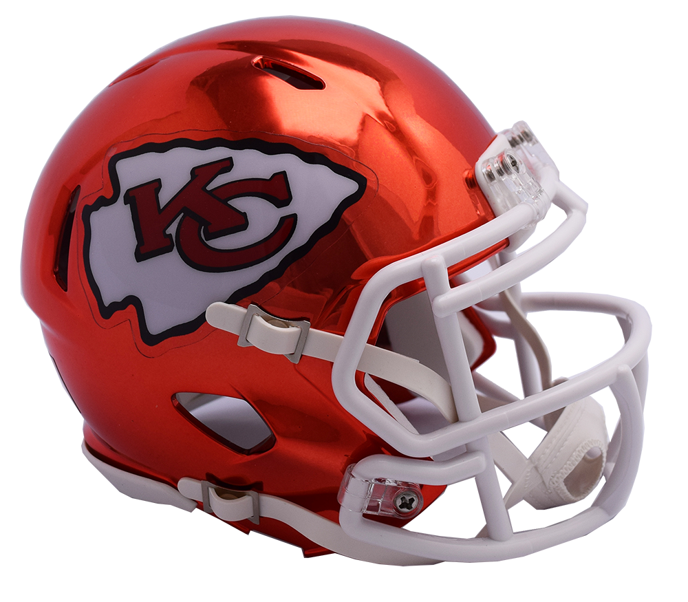 Kansas city chiefs helmet png. Chrome riddell speed authentic