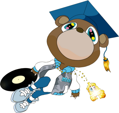 Kanye west graduation png. College dropout and the