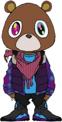 Kanye west graduation png. Bear google search polka