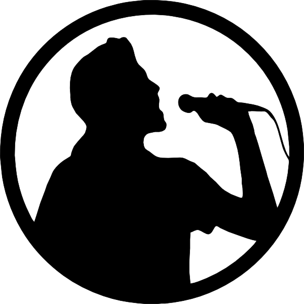 Karaoke clipart black and white. Singer
