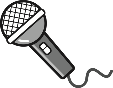 Music clipart microphone. Karaoke singing drawing free