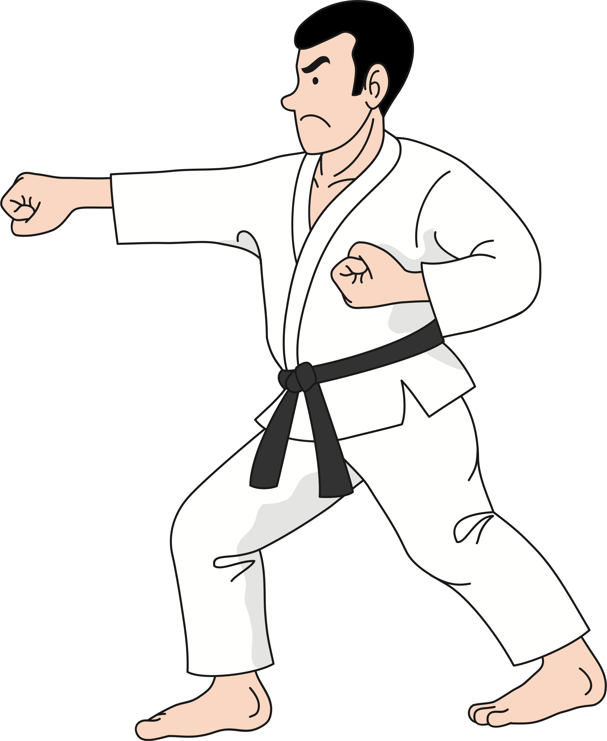 Martial arts clipart. Karate practice big image