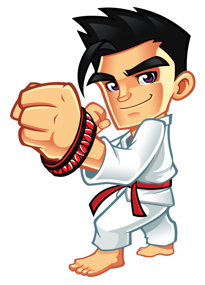 Karate clipart trophy. Black and white
