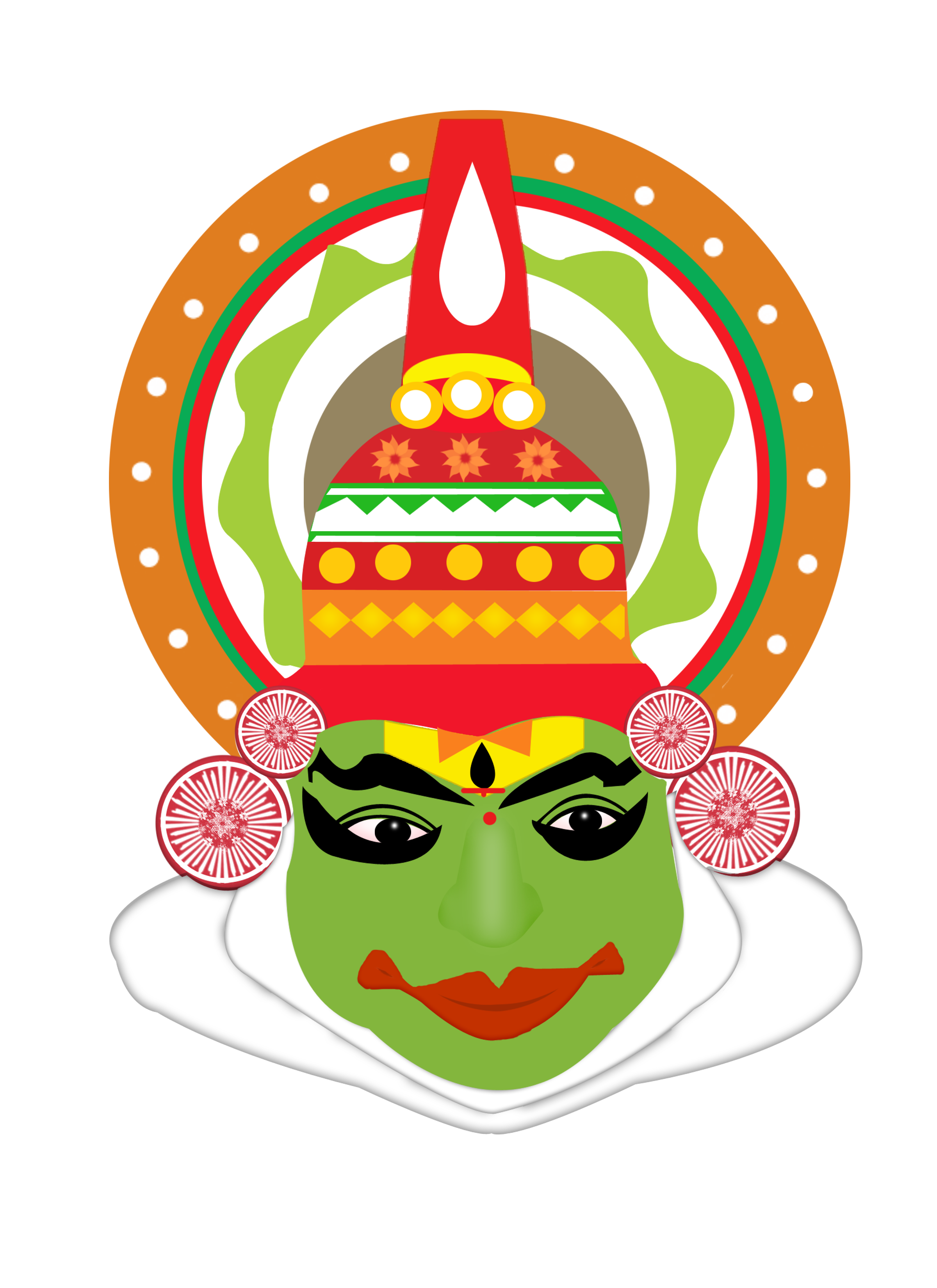 Kathakali statue png. Its a mask inspired