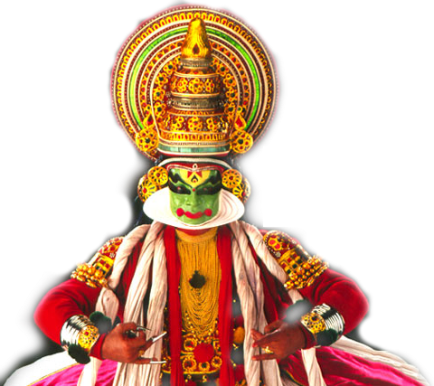 Kathakali statue png. Gods own country
