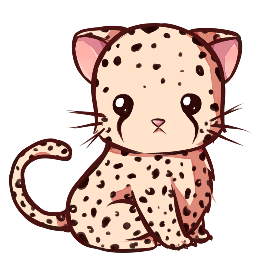 Kawaii animal png. Leopard by dessineka on