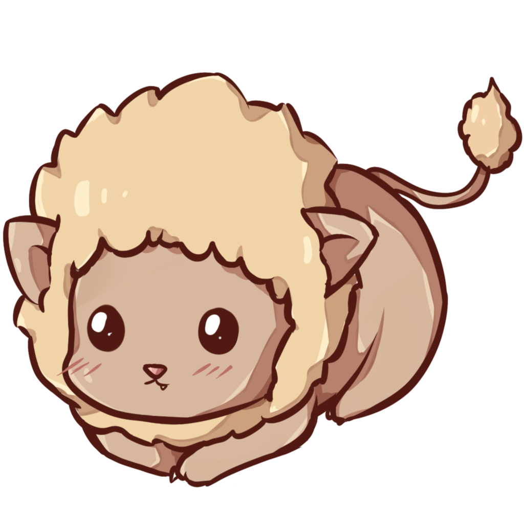 Kawaii animal png. Baby lion cutekawaii chibi