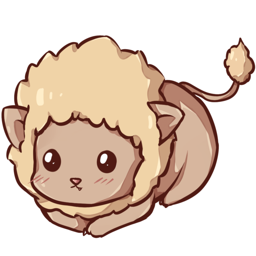 Kawaii animal png. Lion by dessineka on