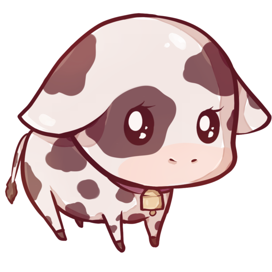 Kawaii animal png. Cow by dessineka fauna