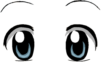 Kawaii anime eyes png. Cute clipart images gallery