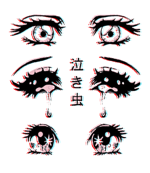 Kawaii anime eyes png. Image about black in