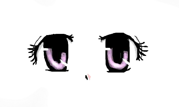 Kawaii anime eyes png.