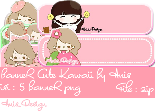 Girls by anis kaniaeditings. Kawaii banner png clipart black and white library