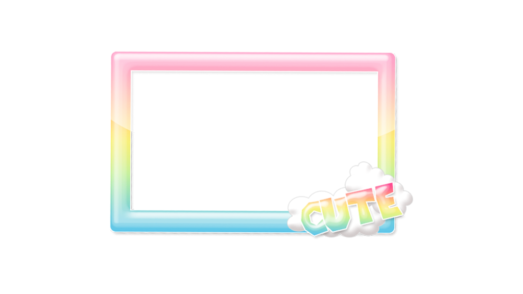Kawaii border png. Rainbow frame by cutienova