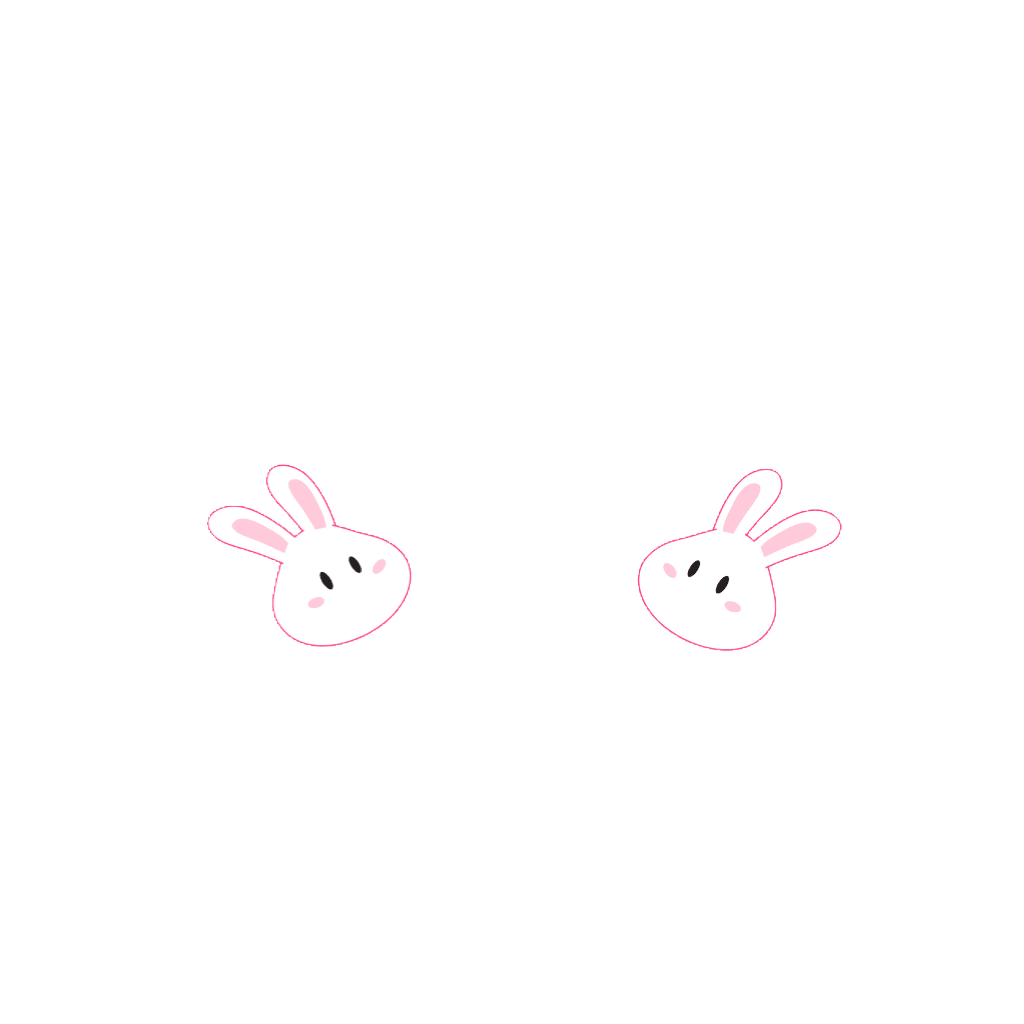 Cute bunnysticker blush blushstichers. Kawaii bunny png clipart free library