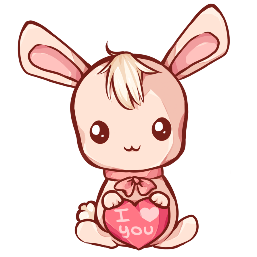 By dessineka on deviantart. Kawaii bunny png banner library