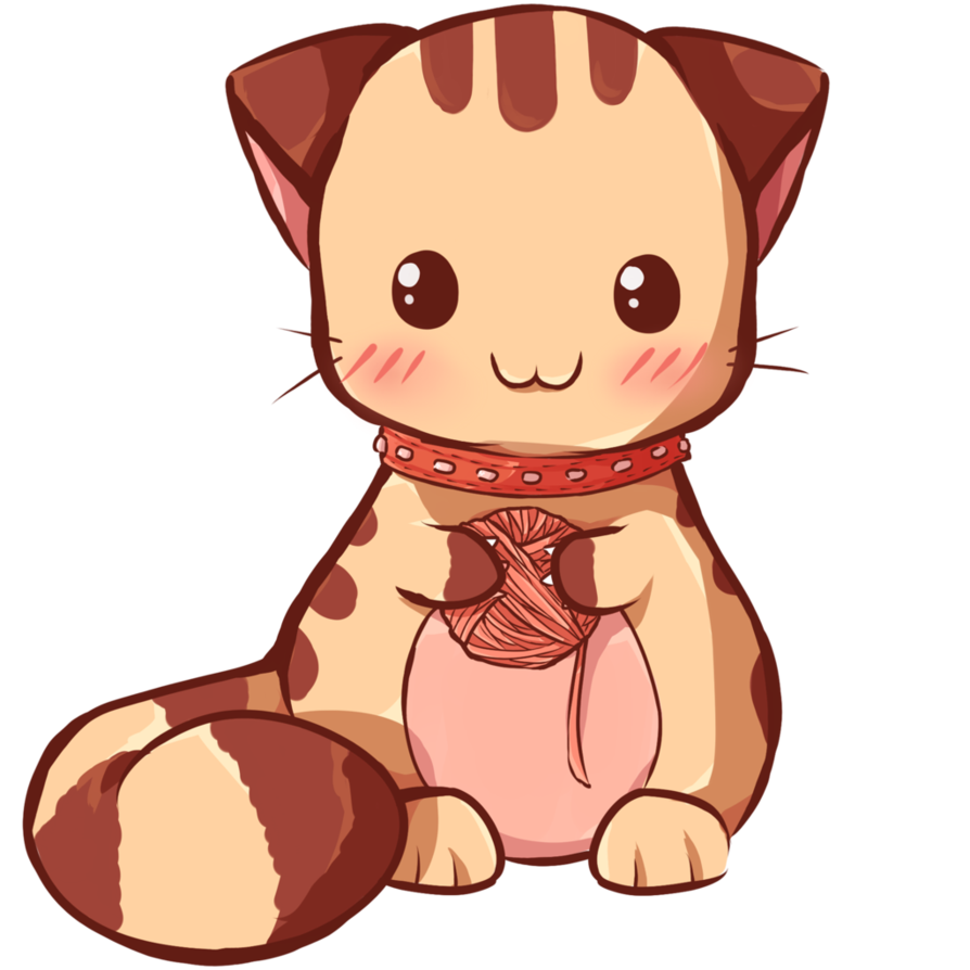 Cat by dessineka on. Kawaii animal png clip freeuse library