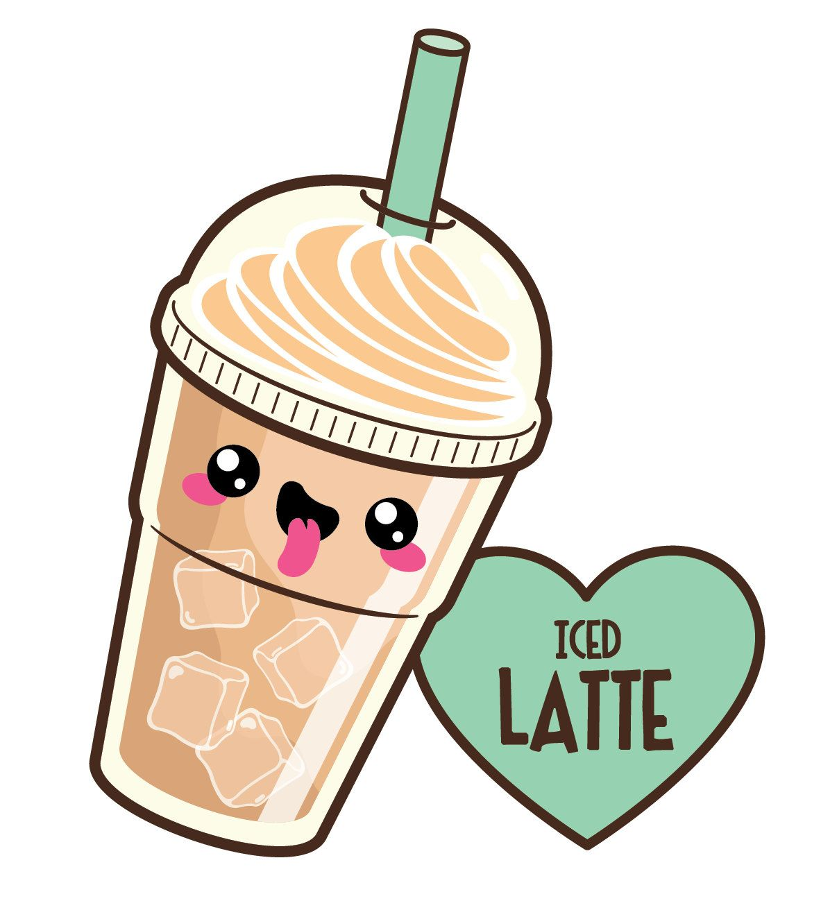 Kawaii clipart. Coffee cute off by