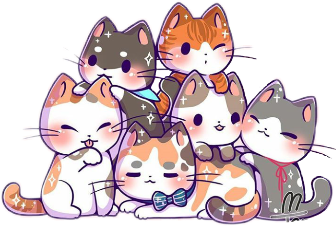 Kittens transparent kawaii. Cute cat kitten cats